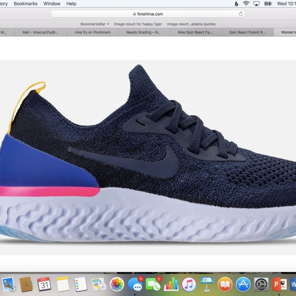 6857cf3a1c98f Nike Epic React Flyknit Running Shoes College Navy.  M 5bd9f1bc45c8b36f71e9e00b